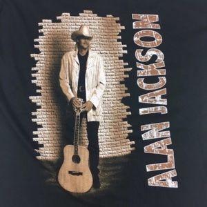 90s Alan Jackson Graphic T XL Band Concert Tour